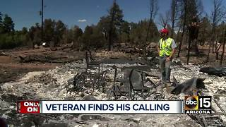 Veteran finds his calling in helping other's rebuild - Video