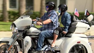 Motorcycle club takes 85-year-old woman for a ride for her birthday