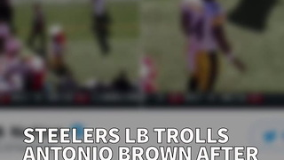 Steelers LB Trolls Antonio Brown After Water Cooler Meltdown Sunday - Video
