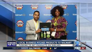 Local business pitches products to Walmart - Video