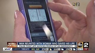 Man reunited with woman who saved his life - Video