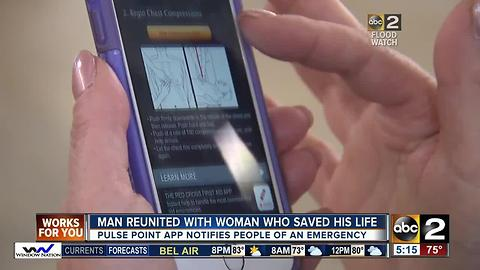 Man reunited with woman who saved his life