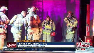 Fire near 30th and Spaulding - Video