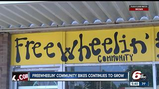 Freewheelin' Community Bikes: A growing organization with a need for more funding - Video