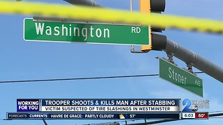 Trooper stabbed, suspect killed after struggle in Westminster