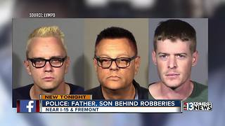 Father and son duo behind bars after series of robberies - Video