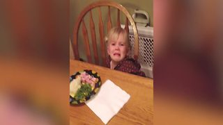 Tot Girl Gets Upset Because Her Babysitter Isn't Coming Tonight - Video