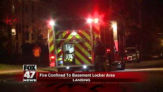 Fire confined to basement locker room in Lansing - Video