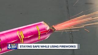 Staying safe while using fireworks - Video