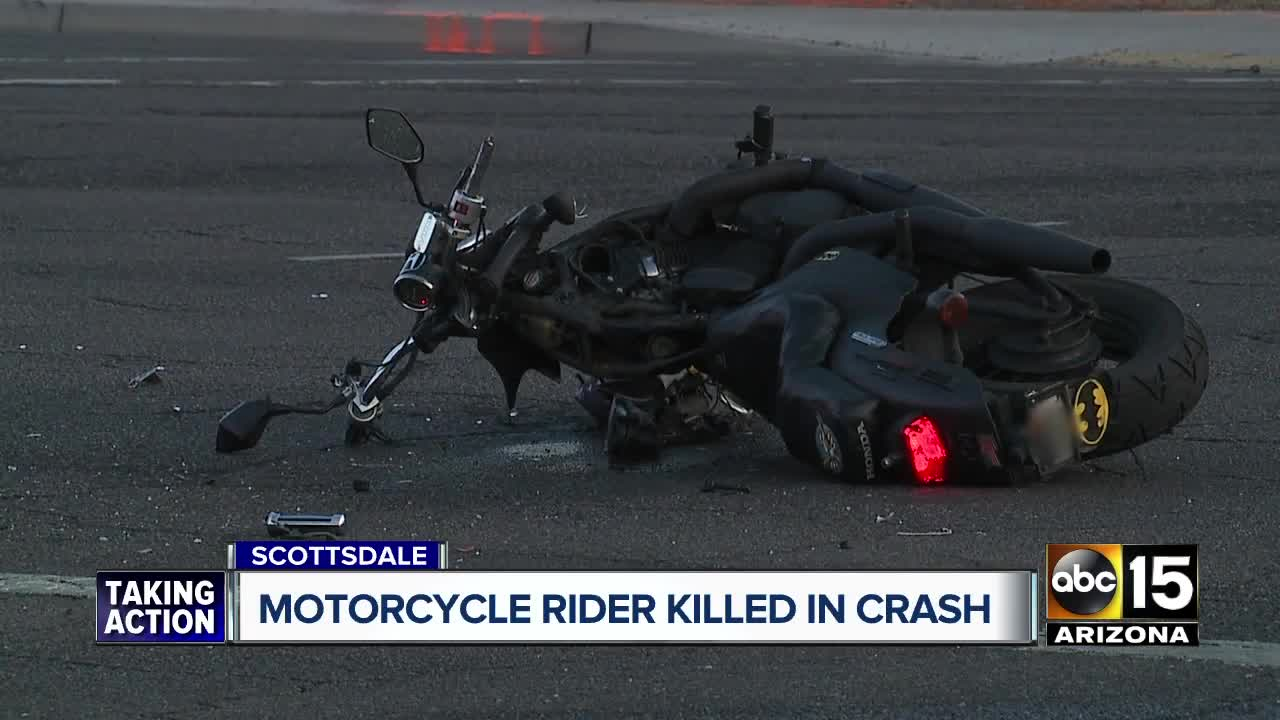 Police investigating deadly motorcycle crash in Scottsdale