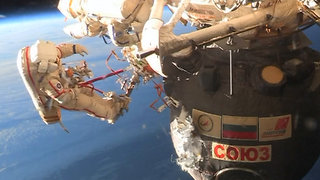 Cosmonauts Do Spacewalk To Find Mysterious Hole In Spacecraft At ISS