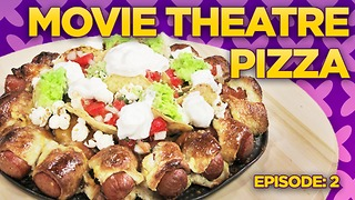 Movie Theater Pizza Challenge! Nachos & Hot Dogs! | Will it Pizza? - Video