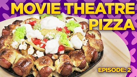 Movie Theater Pizza Challenge! Nachos & Hot Dogs! | Will it Pizza?