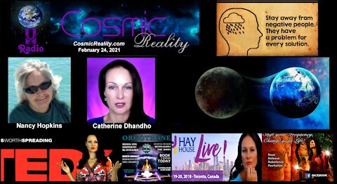 Cosmic Reality Special 2/22/21 - Catherine Dhandho on different realities