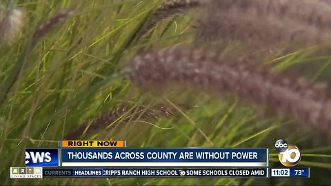 Thousands across the county are without power