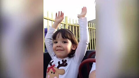 Little Girl Goes on Rollercoaster of Emotions