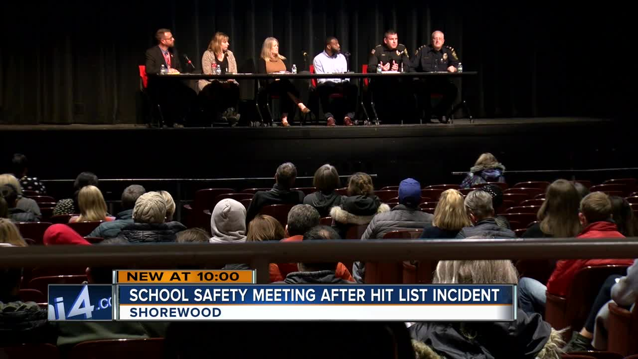 Shorewood holds community meeting after school threat