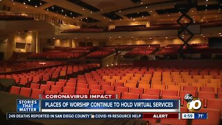 Places of worship continue to hold virtual services