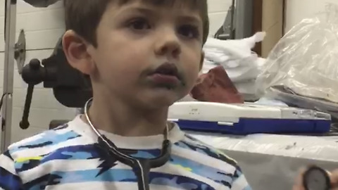 A Boy Doctor Who Says His Dad's Balls Are Broken