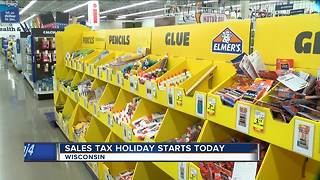 Gov. Walker on Wisconsin's first ever sales tax holiday - Video