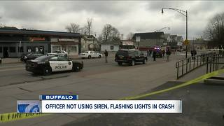 Buffalo officer did not have emergency lights, sirens on during fatal pedestrian crash, police say--6pm - Video