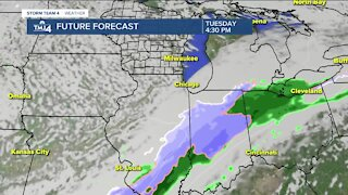 Cooler weather, chance of showers possible for Monday
