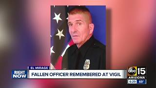 Fallen officer remembered at vigil - Video