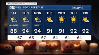 FORECAST: Halloween is looking to be warm with a high of 88 degrees