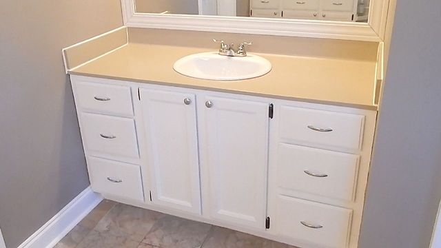 Update Your Bathroom Vanity With Rust Oleum Countertop Paint