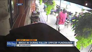 Milwaukee Police seek suspect who burgled business during fundraiser for fallen officer - Video
