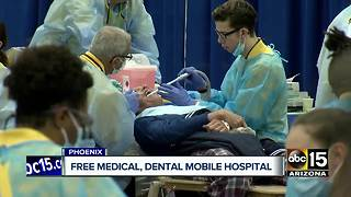 Free medical and dental services being offered in Phoenix - Video