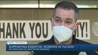 Tucson 10-year-old writes thank you cards for essential workers