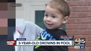 Boy found unresponsive in Peoria pool dies in hospital - Video