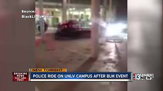 Black Lives Matter students, police in tense moments at UNLV