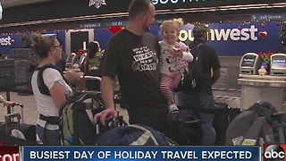 Busiest day of holiday travel expected on Friday