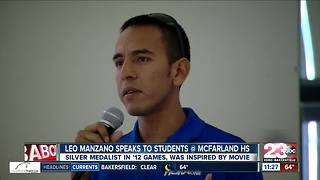 Olympic silver medalist Leo Manzano speaks to kids at McFarland High School - Video