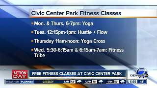 Free fitness classes at Civic Center Park - Video