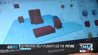 414ward: 3D printers help students see the future - Video