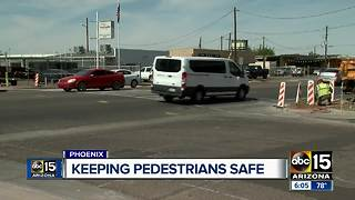 City of Phoenix working to increase pedestrian safety
