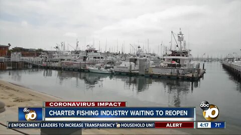 Charter fishing industry waiting to reopen