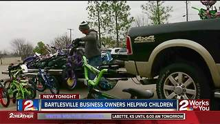 Bicycles donated to foster children in Bartlesville - Video