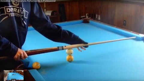 Play your shot: 14-year-old shows off amazing pool tricks to beat the competition