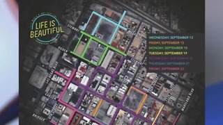 Life is Beautiful road closures begin Wednesday - Video