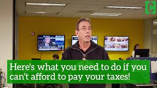 Here's what you should do if you can't afford to pay your taxes - Video