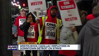 Westin Book Cadillac Detroit hotel workers go on strike