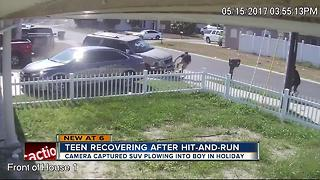 Teen recovering after hit-and-run