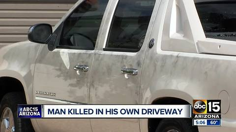 Man shot and killed in his driveway in Glendale