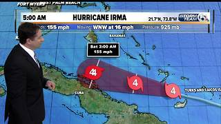 5 A.M. Update: Hurricane Irma now a Cat. 4 with 155 mph winds - Video