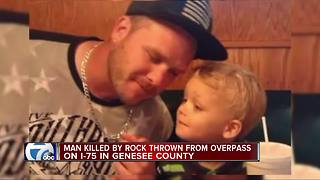 Man hit by rock thrown from overpass dies on I-75 in Genesee Co. - Video