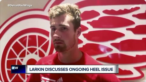 Dylan Larkin discusses ongoing heel issue
